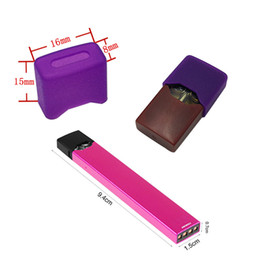 Silicone Flat Mouthpiece Cover for Juul Pods Rubber Protective Cover Skin Sanitary Sleeve case DustProof Cap for juul Vape Pen Cartridge
