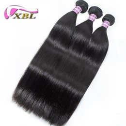Lace Closure With 3 Bundles Brazilian Virgin Hair Weaves Straight Peruvian Indian Malaysian Cambodian Human Hair Closure