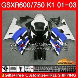 8GiftsBodyForSUZUKIGSXR600GSXR750K1GSXR-600GSX-R750stock blue hot 4HC.68GSXR750GSXR600750010203200120022003Fairingkit