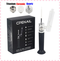 Original CPENAIL 1100mah Portable Wax Pen Dab Rig Nail Pot Ceramic Quartz Electric H GR2 pure Ti ecigarette Vaporizer Vapor Glass bongs kits