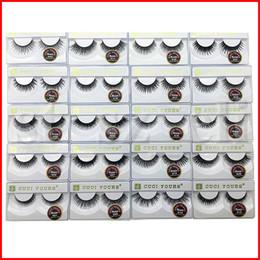 3D Eyelashes Natural False Eyelashes Long Eyelash Extension 100% Human Hair Fake Eye Lashes Makeup Tool 10 Pairs set 20 Styles
