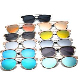 Designer Sunglasses Fashion Show Vintage Sun Eyeglasses Frame Plat Mirror Lens Unisex Cool Fashion Eyeglasses 11 Colors