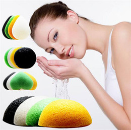 Konjac Sponge Puff Facial Sponges Pure Natural Konjac Vegetable Fiber Making Cleaning Tools For Face And Body EMS 100