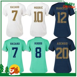 women 19 20 Real madrid hazard Soccer Jersey Benzema Ronaldo Modric Kroos Sergio Ramos Bale Marcelo james 2019 2020 home shirts