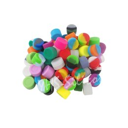 Wholesale 10,000pcs lot FDA&LFGB storage jar non-stick silicone containers 3ml mixed color Dabs wax box dry herb high Quality