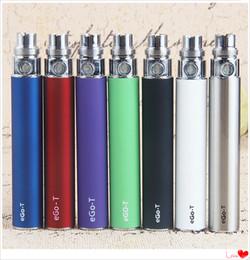 eGo Vape Pen Batteries Electronic Cigarette E-cig Ego-T 510 Thread 650 900 1100 mAh For Glass oil Vaporizer Cartridge 9 Colors