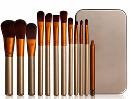1 set Newest Brand makeup tools Soft Synthetic Hair professional makeup brushes (12pcs brush set) free shipping