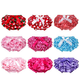 Multicolor Baby bloomers Toddler infant flouncing bow dots Satin briefs bloomer PP pants underwear girls Panties kids boutique clothing