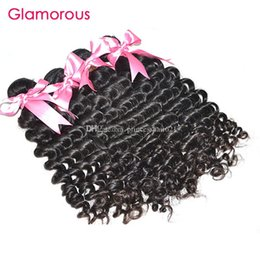 Glamorous Malaysian Virgin Hair Curly Weave Cheap Human Hair Extensions 4Pcs lot Mix Length Peruvian Indian Brazilian Hair Weave Bundles