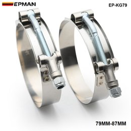 """Tansky - 1 Pair   Unit High-performance 3"""" INCH (79MM-87MM) SILICONE TURBO HOSE COUPLER T BOLT SUPER CLAMP KIT (EP-KG79)"""