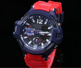 AAA Nuevo estilo de calidad superior Auto luz Impermeable reloj brújula temperatura multifunción Cronógrafo Relojes deportivos para hombre Con caja original