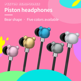 SF-A45 3.5MM process combined with fashion cute bear cartoon headset cell phones headset microphone headset bag packaging