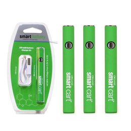 Green Smart Carts Preheat Battery 510 Thread Variable Voltage 380mah Battery for Smart Vape Cartridges Pen