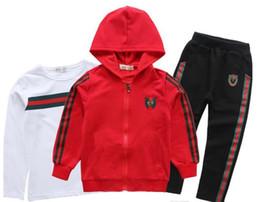 hot Children's suit Clothing Set Children Coat Trouser 3ps Set New Autumn Teenager Sport Suits School Uniform