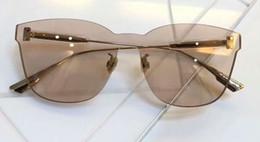 Gold Frame Nude Lenses Sunglasses Rimless Sun glasses Designer Sunglasses New WITH BOX