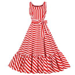 Plus Size Women Summer Vinatge Elegant Party Night Dresses Striped Sexy Casual Maxi Fashion Dress DK3037MX