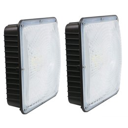 Square Gas Station Lighting LED Canopy Lights 70W Super Bright Backyard Light 5000K Daylight White Stock In USA