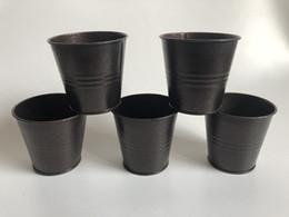 Vintage Flower pots Nostalgia Mini iron Coffee Tin box Succulents Planter Mini Iron Basin SF-056