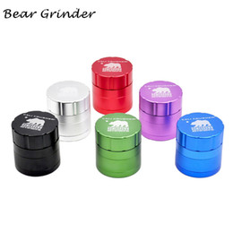 Bear Cali Crusher Homegrown 53MM CNC Aluminum Alloy Tobacco Herb Grinder Spice Crusher 4 Layers Pollen Catcher Metal Smoking Herb Grinder
