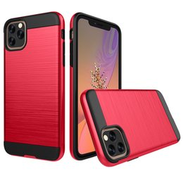 Wire Drawing Dual Hard PC+TPU Brushed Hybrid Armor Anti-Shock Shockproof Cover Case For iPhone 11 Pro Max XS XR X 8 7 6 6S Plus
