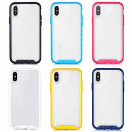 Official Non-slip Hybrid Case For Iphone XR XS MAX X 10 8 7 6 6S Hard Plastic+Soft TPU Bicolor Clear Dual Color Transparent Phone Cover 2019
