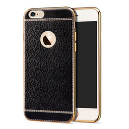 New luxury electroplating TPU case for apple iphone xs max xr x 7 8 6S plus PU leather case slim design