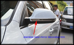 Free shipping!High quality STAINLESS STEEL 2pcs car mirror bright trim, rearview protection trim,decoration trim for Audi Q3 2012-2015