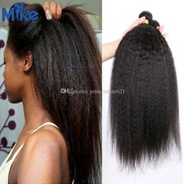 MikeHAIR Wholesale Mongolian Kinky Straight 4 Bundles Peruvian Cambodian Indian Remy Hair Extensions 100g Cheap Mink Brazilian Hair Weaves