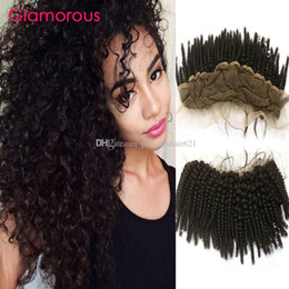 Glamorous Mongolian Hair Lace Frontal Cheap Human Hair 8-24 Brazilian Indian Cambodian Kinky Curly Hair Lace Frontal Closure for black women