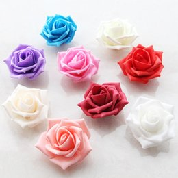 6CM 100PCS artificial pe rose flower heads diy rise wedding arch pe foam flower ball bouquet accessory decorative flowers