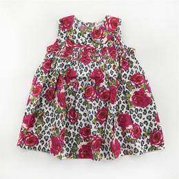 Girls Short Sleeve Sun Dresses Children Princess Children Casual Dress With Flower The Little Baby Girls Clothing Girls Outside Dresses