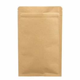 100pcs lot- 13x18.5cm Zip-lock Kraft Paper Bag with aluminum foil coated inner for Dried Food Nuts Tea Packaging