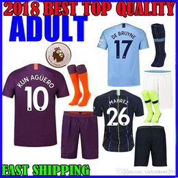d3c1ee4d79a 18 19 manchester city KUN AGUERO THIRD ADULT AWAY SOCCER JERSEYS 26 MHREZ  STERLING KIT HOME 2018 SANE DE BRUYNE G.JESUS AWAY FOOTBALL SHIRTS