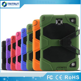 Military Extreme 3 in 1 Robot Hybrid Heavy Duty Shockproof protective case Computer tablet Case For ipad air ipad 2 3 4 ipad mini MQ30