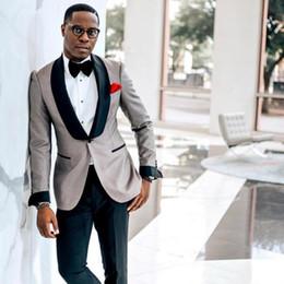 New Arrival Wedding Tuxedos Mens Blazer Suits Formal Custom Made Black Shawl Lapel One Button Mens Wedding Suits (Blazer+Pants)