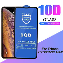9H Hardness Screen Protector 10D Tempered Glass Hard Edge Phone Protective Guard Film For iPhone 11 Pro Max XS XR X 8 7 6 6S Plus