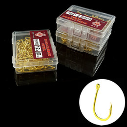 1000pcs 10box 3-12# Gold Ise Hook High Carbon Steel With Hole Barbed Hooks Fishing Hooks Fishhooks Pesca Carp Fishing Tackle Accessories