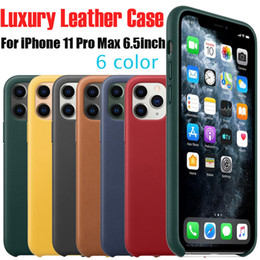 Have Logo Original Leather Case For Apple iphone 11 Pro Max Case Official Real Leather Cover For iphone Xs Max Xr X With Retail Box