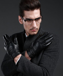 fashion Mens real Leather gloves leather GLOVE gift accessory wholesale from factory #3168