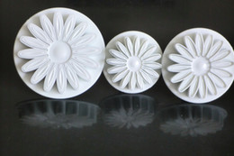 5Sets SUNFLOWER DAISY GERBERA Plunger cake Cutters Sugarcraft cake tool mould cake fondant cutter plunger kitchen tool