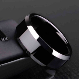 Hot ! 9pcs Europe and America popular simple personality men's stainless steel rings 8mm For men's Birthday party gift