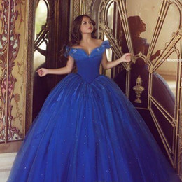 Said Muhamad 2019 Prom Dresses Ball Gown Off Shoulder Puffy Tulle Formal Evening Gowns Cinderella Quinceanera Dress Evening Gowns