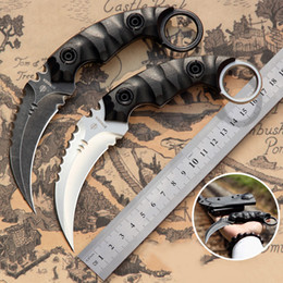 Strider Machete Knife Karambit Claw Knives D2 Blade Fixed Blade G10 Handle 60-61HRC Outdoor Hunting Tactical Dagger With K Sheath