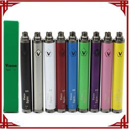 Vision Spin 2 Battery 1600mAh E Cigarette Ego twist Vaporizer Pen Vape Battery for 510 Thread Battery Vape Pen Electronic Cigarette