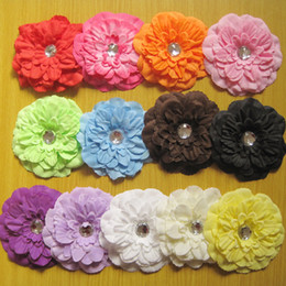 "50pcs girl 4"" peony flower hair clip baby beautiful flowers barrettes for girl headbands headwear hair accessories"