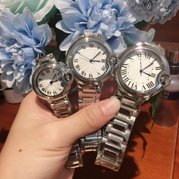 High quality 2019 Man women dress watches Classic Quartz Watch fashion casual brand wristwatch steel New ladies Luxury Lovers watch Elegant