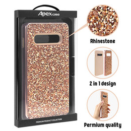 Luxury Designer Phone Cases Rhinestone Diamond Bling 2in1 Case For iPhone XR XS MAX X 8 7 6 Samsung Note 9 Retail Package