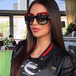 KADIGUCI Newest Oversized Square Sunglasses Women Luxury Brand Designer Red Green Sun Glasses Female Vintage Shades Eyewear K0139