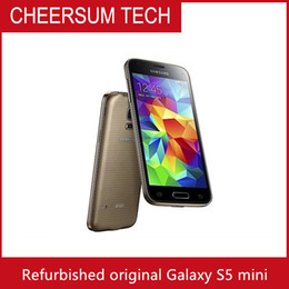 "2016 Original Unlocked Mobile Phones Samsung Galaxy S5 mini G800F G800A 16.0MP 16GB ROM Android os 5.1"" Smartphone Refurbished"