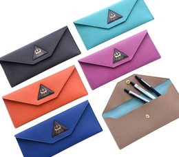 New trend fashion pencil case Leather 19.6*9cm stationery phone bag Office and school supplies Triangle series multi-function storage bag